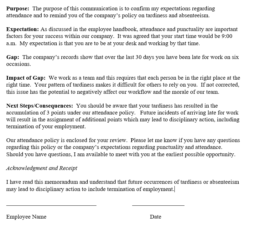 Example of HR Documentation